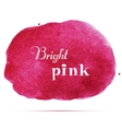 Bright pink spot Abstract stylish watercolor vector image