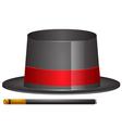 Magic hat and magic wand vector image