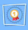robbon with medal icon best prize award web button vector image