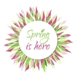 Spring is here card banner tag label vector image