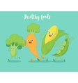 Vegetables fun run vector image