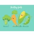 Vegetables fun run vector image