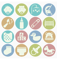 white icons baby vector image