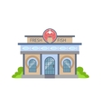 Fresh Fish Shop Commercial Building Facade Design vector image