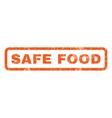 Safe Food Rubber Stamp vector image