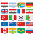 flags set vector image vector image