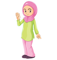 A female Muslim vector image vector image