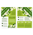 spring time posters of white flowers wreath vector image