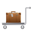 luggage cart vector image