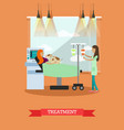 disability and medical treatment vector image vector image