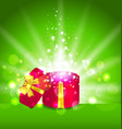 Christmas background with open round gift box vector image