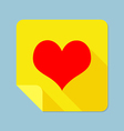 Notepad Heart vector image