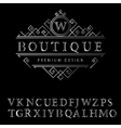 Monogram design elements English letters Elegant vector image