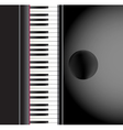 piano and a chair background vector image vector image