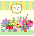 flower shop green vector image vector image