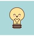 bulb character kawaii style vector image