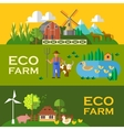 eco farm vector image
