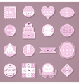 Set of wedding decorative stickers vector image