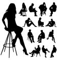 Sitting people vector image