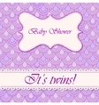 Baby shower flake background twins vector image