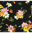Spring Lily Flowers Backgrounds - Seamless Pattern vector image vector image