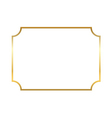 Gold frame Beautiful simple vector image