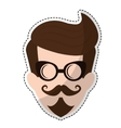 hipster man icon image vector image vector image