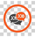 Labor Market Chat Flat Rounded Icon vector image