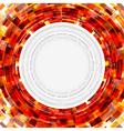 Abstract technology circle digital vector image vector image