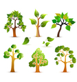 Green Trees Set vector image vector image