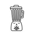 kawaii blender cartoon vector image