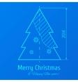 Blue print vector image