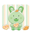 Happy love bunny vector image