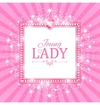 Cute Pink Banner for Princess vector image