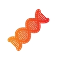 The DNA sign Orange applique isolated vector image