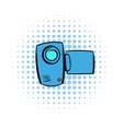 Camcorder comics icon vector image