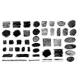 Hand Drawn Shaded Scribble Shapes vector image