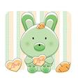 happy love bunny vector image