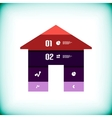 house modern template vector image