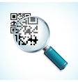 magnifier and qr code vector image