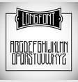 tall narrow font vector image