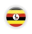 Uganda icon circle vector image