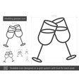 wedding glasses line icon vector image
