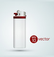 white gas lighter template vector image