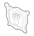 Picture with flowers in a vase icon vector image