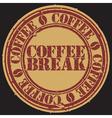 Coffee break stamp vector image