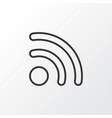wireless connection icon symbol premium quality vector image