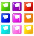 flag icons 9 set vector image