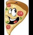 Pizza cartoon vector image