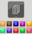 Copy file Duplicate document icon sign Set with vector image